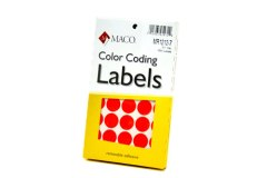 ORANGE COLOR CODING LABELS 3/4