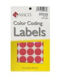 RED COLOR CODING LABELS 3/4