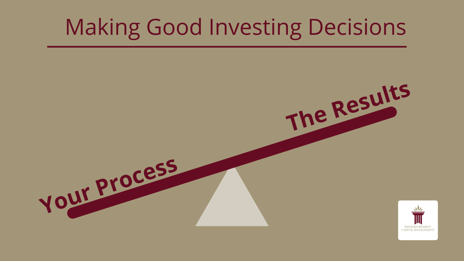 Making Good Investing Decisions