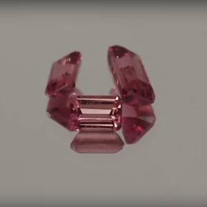 Tourmaline Pink Emerald Cut