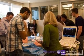 Students practise ultrasound-guided catheterization of internal jugular vein
