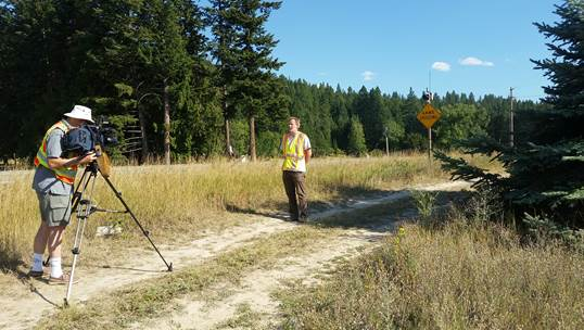 Marcel Huijser is interviewed for story featuring road ecology work in Alberta, Canada