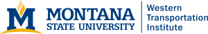 Graphic: Montana State University with Western Transportation Institute unit identifier