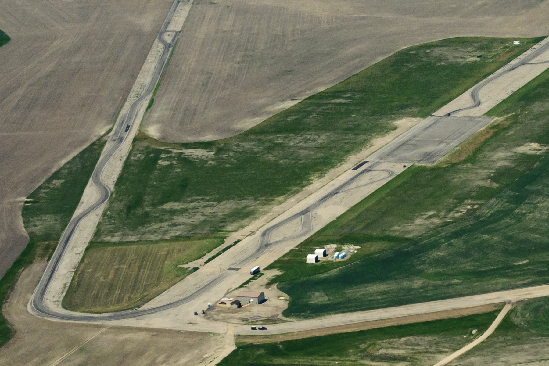 Aerial view of WTI's Transcend test track and storage facilities.