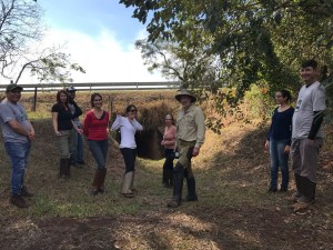 Graduate students participate in a road ecology field trip with Marcel.