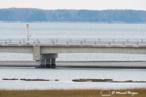 Bridge and causeway through Chicoteague Bay, Chincoteague Island, Virginia, USA