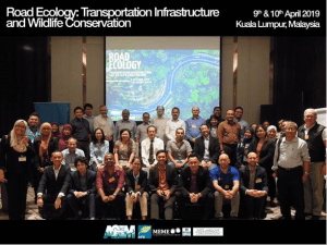 Group photo of attendees at Road Ecology workshop in Malaysia