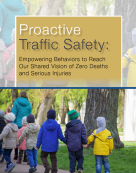 Cover image of Proactive Traffic Safety report with title and photo of children walking on a sidewalk