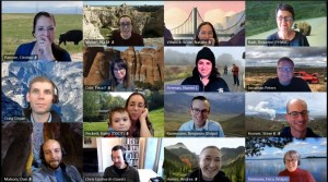 screenshot of 15 people attending a virtual committee meeting at the TRB Annual Meeting 2021