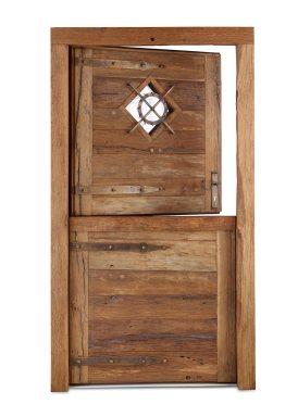 Haustür aus Holz Altholz Rustikal Eiche Schmiedeeiserne