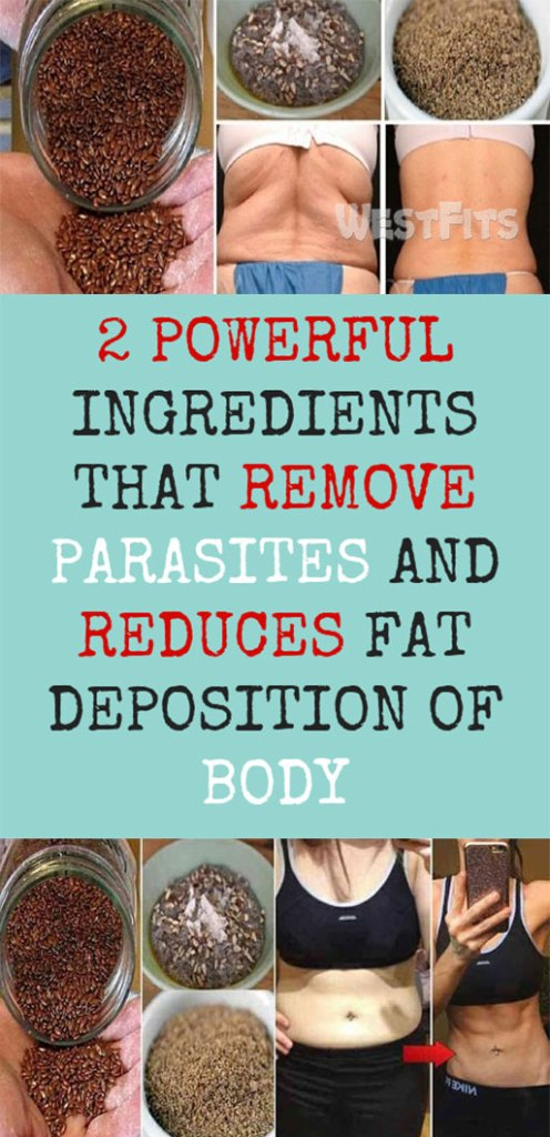 2 POWERFUL INGREDIENTS THAT REMOVE PARASITES AND REDUCES FAT DEPOSITION OF BODY