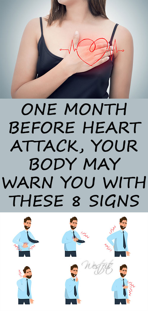 One Month Before Heart Attack, Your Body May Warn You With These 8 Signs
