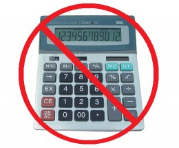 Image result for no calculator