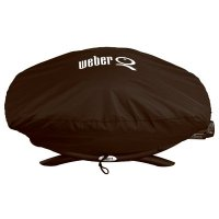 Weber Q Grill Cover, Vinyl Bonnet, For Q2000 & Q200