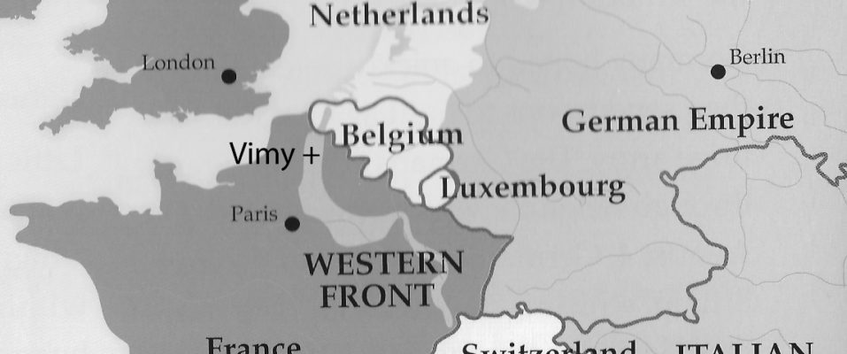 Map Of France Vimy.World War I Project April 2017 West Hants Historical Society