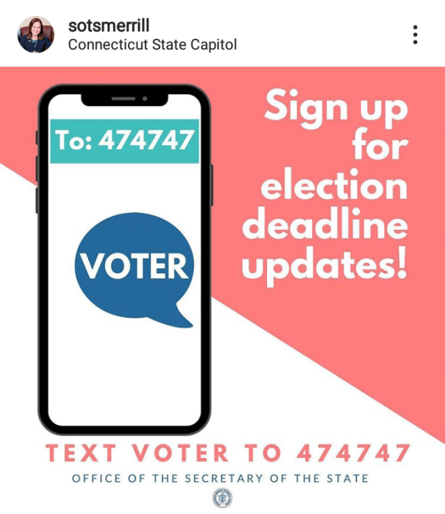 get text message from the Secretary of State for important updates