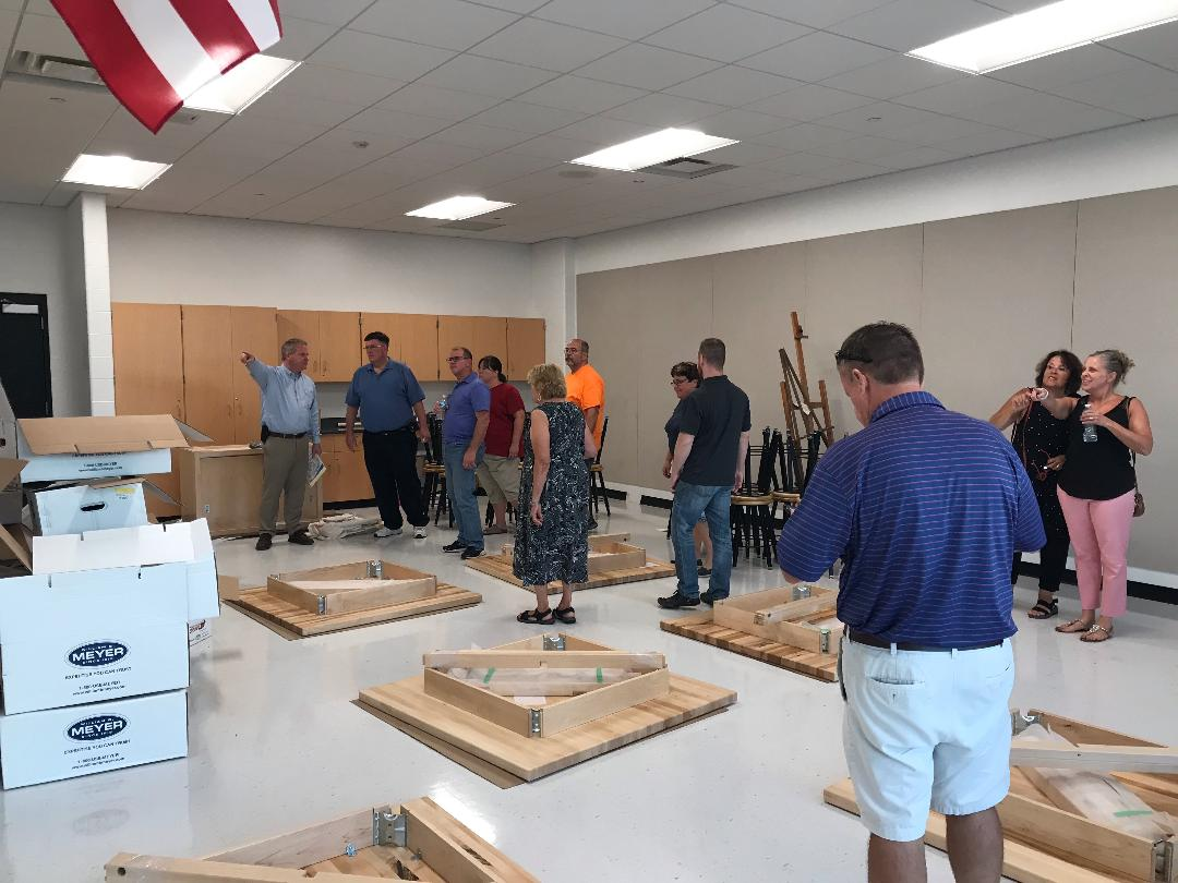 Board of Ed tours the new high school wing
