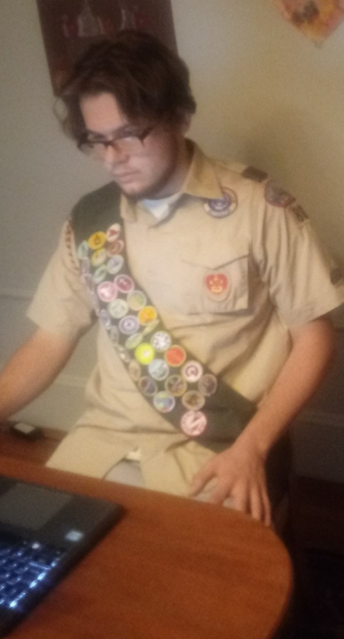 Eagle Scout inductee
