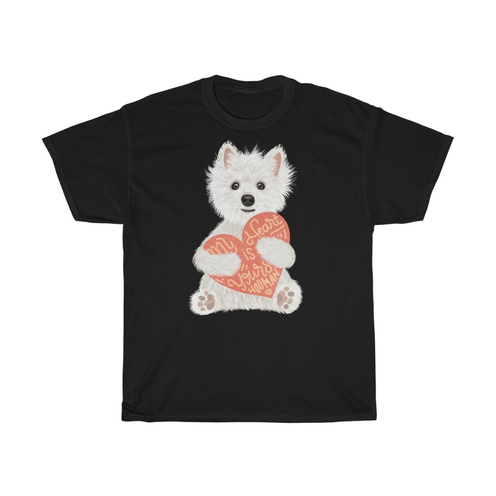 5 Perfect Gifts for Westie Lovers in 2021 - Westie Heart Black T-shirt