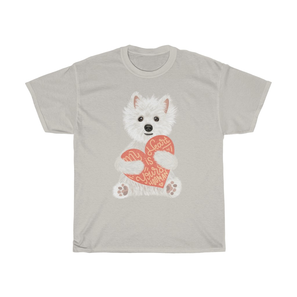 5 Perfect Gifts for Westie Lovers in 2021 - Westie Heart Grey T-shirt