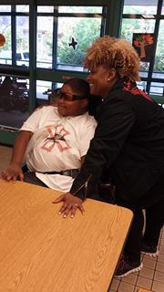 Xzavier Davis-Bilbo with his mother Valetta Bradford a spokeswoman against distracted driving
