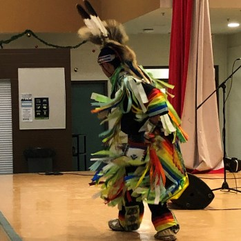 Traditional Grass Dance performed by WK student Michael Esquash.