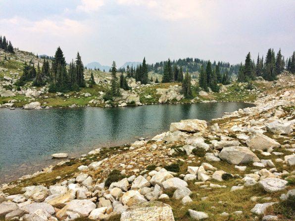 Shoreline of the eastern Sapphire Lake