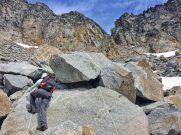 Climbing boulders