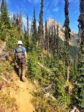 Hiking the ridgeline towards Loki