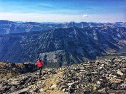 Hiking up to Gimli Ridge