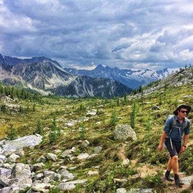 Hiking up to the ridge