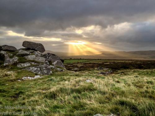 Bluestone rocks at sunrise