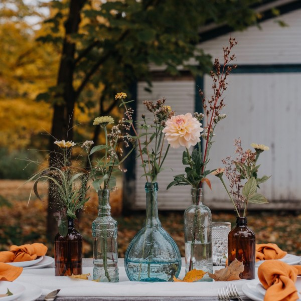 Bud Vases Fall Wedding