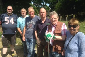 bramley war graves rubbish clean up