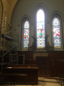 Preservation work at St John's Church is ongoing. Photograph: St John's Church