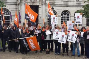 Protest Leeds care home closures GMB