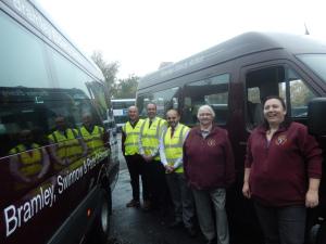 Bramley Elderly Action First Bus minibuses