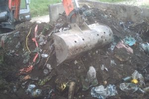 bramley war graves rubbish clean up