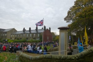 Bramley War memprial remembrance Sunday