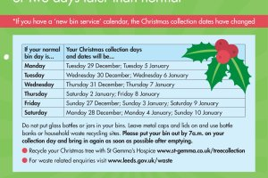 Christmas bin collections Leeds