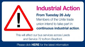 Leeds bus strike Tuesday july 26