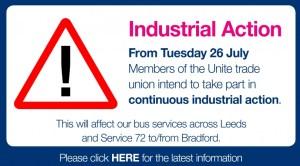 Leeds bus strike Tuesday july 26