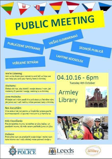 Armley polish public meeting