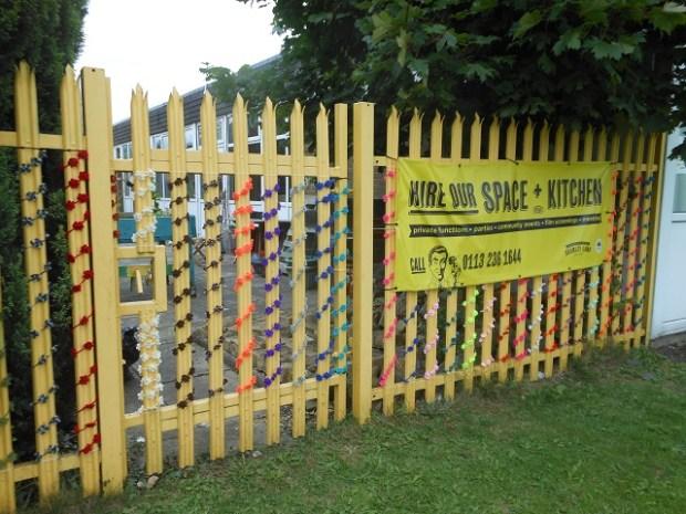 Bramley Lawn yarnbombing