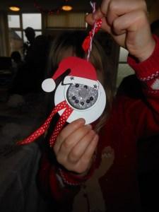 Festive snowman - Made in Bramley! Photo: Debby Dean