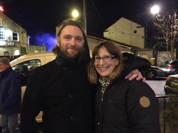Faye Wolstenholme and James Wilson enjoy first Rodley Lights switch-on courtesy Light Up Rodley group. Photo: Jill Buckley