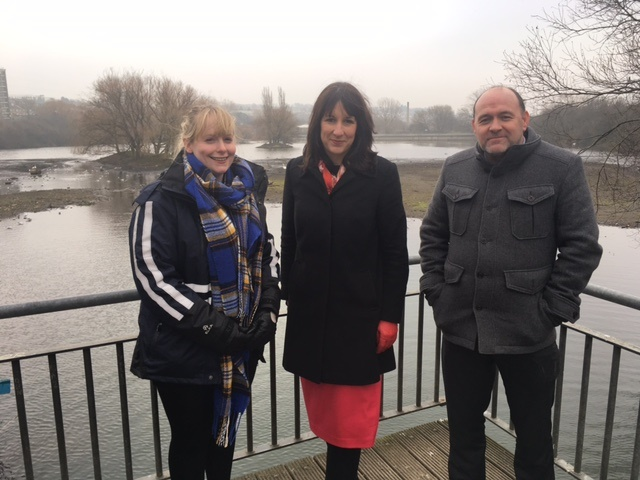 Rachel Reeves MP urges businesses to join Farnley Reservoir action day