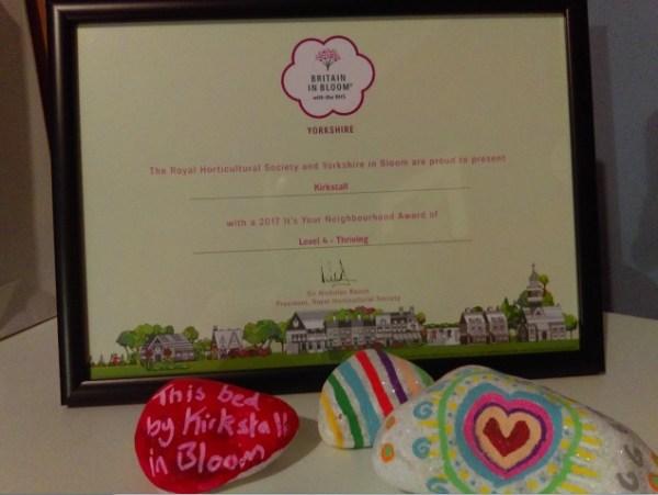 yorkshire in bloom kirkstall award