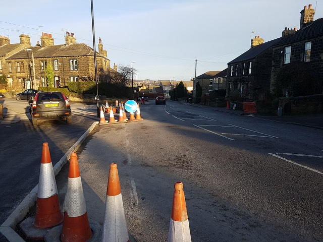 Calverley: Woodhall Road traffic calming nearly complete