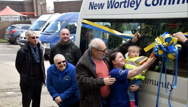 Armley Helping Hands:  Photographs of new minibus unveiling